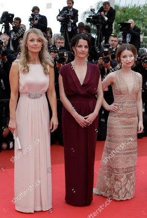 Rachael Blake, Julia Leigh, Emily Browning Actress Rachael Blake, director/writer director Julia Leigh and actress Emily Browning arrive for the screening of Sleeping Beauty at the 64th international film festival, in Cannes, southern France