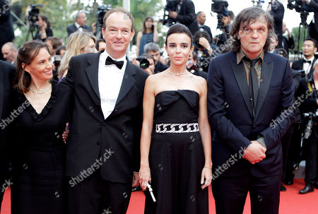 Jury members Un Certain Regard, from left, Daniela Michel, Geoffrey Gilmore, Peter Bradshaw, Elodie Bouchez and president of the jury Emir Kusturica arrive for the screening of Sleeping Beauty at the 64th international film festival, in Cannes, southern France