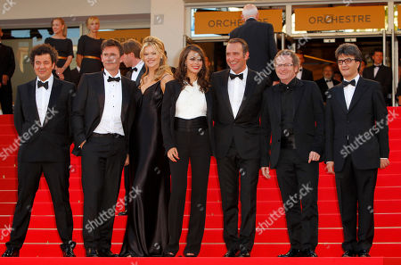 Michel Hazanavicius, Berenice Bejo, Missi Pyle, Jean Dujardin, Guillame Schiffman, Thomas Langmann From second left, director Michel Hazanavicius, actors Missi Pyle, Berenice Bejo, Missi Pyle, Jean Dujardin, cinematographer Guillaume Schiffman and producer Thomas Langmann arrive for the screening of The Artist at the 64th international film festival, in Cannes, southern France