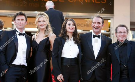 Michel Hazanavicius, Berenice Bejo, Missi Pyle, Jean Dujardin, Guillaume Schiffman From left, director Michel Hazanavicius, actors Berenice Bejo, Missi Pyle, Jean Dujardin and cinematographer Guillaume Schiffman arrive for the screening of The Artist at the 64th international film festival, in Cannes, southern France