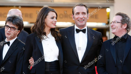Thomas Langmann, Berenice Bejo, Jean Dujardin, Guillaume Schiffman From left, producer Thomas Langmann, actors Berenice Bejo, Jean Dujardin and cinematographer Guillaume Schiffman arrive for the screening of The Artist at the 64th international film festival, in Cannes, southern France