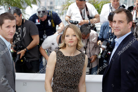 Kyle Killen, Jodie Foster, Keith Redmon From left, screenwriter Kyle Killen, director Jodie Foster and producer Keith Redmon pose during a photo call for The Beaver at the 64th international film festival, in Cannes, southern France