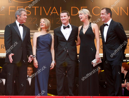 Mel Gibson, Jodie Foster, Kyle Killen, Laura Allen, Keith Redmon From left, actor Mel Gibson, director Jodie Foster, screenwriter Kyle Killen, his wife Laura Allen and producer Keith Redmon arrive for the screening of The Beaver at the 64th international film festival, in Cannes, southern France