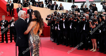 Jean-Paul Belmondo, Barbara Gandolfi Actor Jean-Paul Belmondo arrives to be honoured for his career in the film industry during the 64th international film festival, in Cannes, southern France