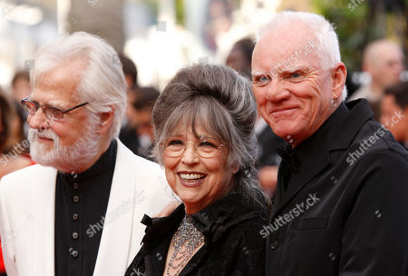 Christiane Kubrick, Malcolm McDowell Christiane Kubrick, widow of Stanley Kubric, center, and actor Malcolm McDowell, right, arrive for the screening of The Skin I Live In, at the 64th international film festival, in Cannes, southern France