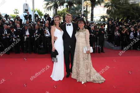 Marketa Kromatova, Mika Hakkinen Racecar driver Mika Hakkinen, center, and his girlfriend Marketa Kromatova, left, arrive for the screening of The Tree of Life at the 64th international film festival, in Cannes, southern France