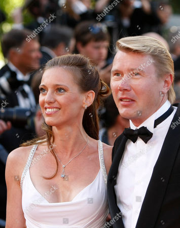 Marketa Kromatova, Mika Hakkinen Racecar driver Mika Hakkinen, right, and his girlfriend Marketa Kromatova arrive for the screening of The Tree of Life at the 64th international film festival, in Cannes, southern France