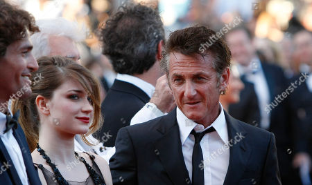Liron Levo, Eve Hewson, Sean Penn From left, actors Liron Levo, Eve Hewson and Sean Penn arrive for the screening of This Must be the Place at the 64th international film festival, in Cannes, southern France