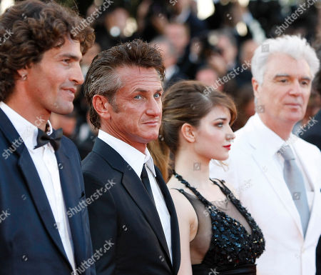 Liron Levo, Eve Hewson, Sean Penn, David Byrne From left, actors Liron Levo, Eve Hewson, Sean Penn and musician David Byrne arrive for the screening of This Must be the Place at the 64th international film festival, in Cannes, southern France