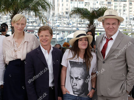 Tilda Swinton, Luc Roeg, Lynne Ramsay, John C. Reilly Actress Tilda Swinton, producer Luc Roeg, director Lynne Ramsay and actor John C. Reilly pose during a photo call for We Need to Talk About Kevin, at the 64th international film festival, in Cannes, southern France