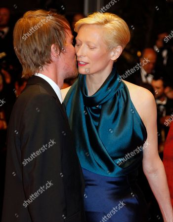 Rory Stewart Kinnear, Tilda Swinton Actor Rory Stewart Kinnear, left, gives a kiss to actress Tilda Swinton on the red carpet of the screening of We Need to Talk About Kevin at the 64th international film festival, in Cannes, southern France