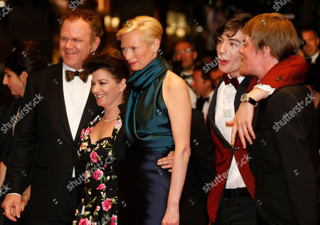 John C. Reilly, Lynne Ramsay, Tilda Swinton, Ezra Miller, Rory Stewart Kinnear Director Lynne Ramsay, second left, poses with actors, from left, John C. Reilly, Tilda Swinton, Ezra Miller and Rory Stewart Kinnear before the screening of We Need to Talk About Kevin at the 64th international film festival, in Cannes, southern France
