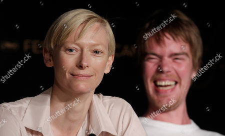 Tilda Swinton, Rory Stewart Kinnear Actors Tilda Swinton, left, and Rory Stewart Kinnear answer questions during a press conference for We Need to Talk About Kevin, at the 64th international film festival, in Cannes, southern France