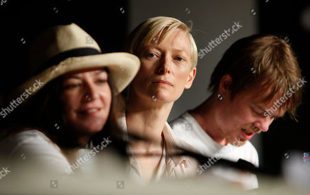 Tilda Swinton, Lynn Ramsay, Rory Stewart Kinnear From left, Scottish director Lynn Ramsay, and actors Tilda Swinton and Rory Stewart Kinnear attend a press conference for We Need to Talk About Kevin, at the 64th international film festival, in Cannes, southern France