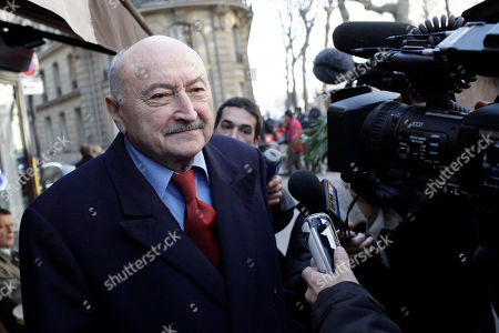Georges Kiejman Georges Kiejman, one of the lawyers of former French President Jacques Chirac, addresses reporters as he leaves Chirac's office in Paris, . A Paris judge delayed a historic trial in which former French President Jacques Chirac is accused of corruption, suspending the proceedings until at least June because of a complaint by defense lawyers