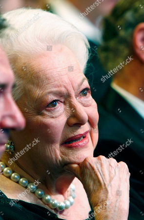 Olivia de Havilland U.S. actress Olivia de Havilland smiles as she attends during the 36th Cesar Awards ceremony in Paris