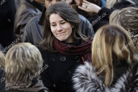 Stock Image of Lola Vogel French actress Lola Vogel, the granddaughter of Annie Girardot, after her funeral ceremony, held at the Saint Roch church in Paris, . Annie Girardot, gravelly-voiced actress who became one of France's most enduring and acclaimed modern stars, died on Monday. She was 79