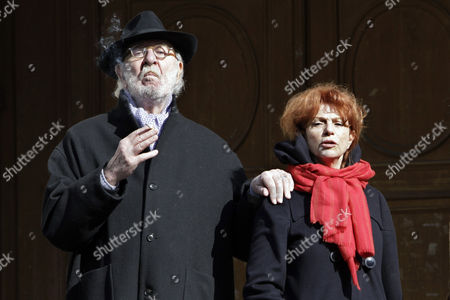 Jean Pierre Marielle, Agathe Natanson French actor Jean Pierre Marielle, left, and his wife French actress Agathe Natanson are seen after Annie Girardot's funeral ceremony held at the Saint Roch church in Paris, . Annie Girardot, the perky, gravelly-voiced actress who became one of France's most enduring and acclaimed modern stars, died on Monday. She was 79