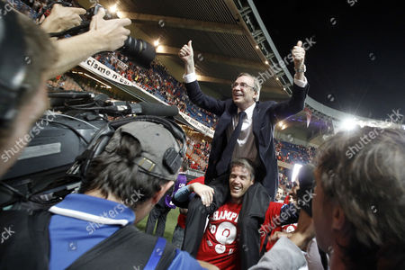 Michel Seydoux Lille's president Michel Seydoux celebrates their first French League One title since 1954 and their first double since 1946 after beating Paris Saint-Germain at the Parc des Princes stadium in Paris, France