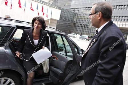 Doris Leuthard Swiss Federal Councilor Doris Leuthard arrives for a meeting with France's Industry Minister Eric Besson, unseen, in Paris