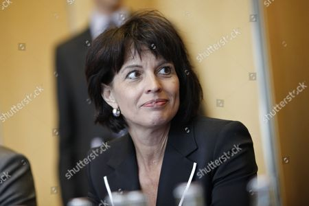 Doris Leuthard Swiss Federal Councilor Doris Leuthard looks on prior to a meeting with France's Industry Minister Eric Besson, unseen, in Paris