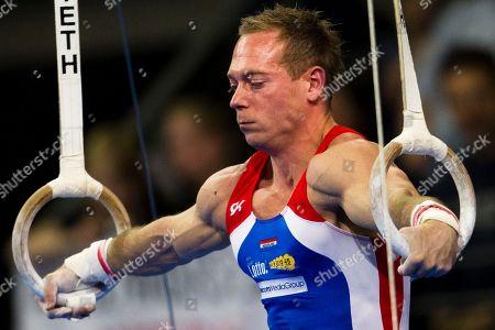 Yuri van Gelder Yuri van Gelder competes the men's rings final during the Artistic Gymnastics European Championships in Berlin on