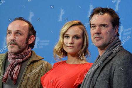 Karl Markovics, Diane Kruger, Sebastian Koch Actors Karl Markovics, Diane Kruger and Sebastian Koch attend a photo-call for the movie Unknown at the International Film Festival Berlinale in Berlin on
