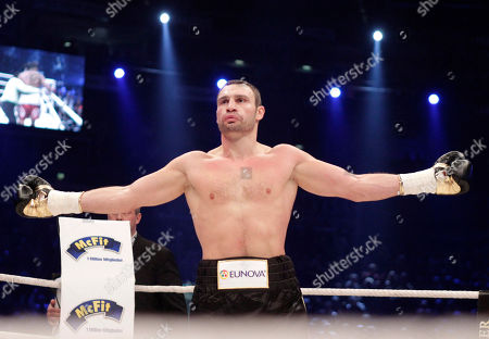 Vitali Klitschko World boxing champion Vitali Klitschko of the Ukraine reacts after defeating challenger Odlanier Solis of Cuba in the first round of the WBC heavyweight title bout in Cologne, Germany