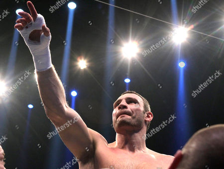 Vitali Klitschko World boxing champion Vitali Klitschko of Ukraine celebrates after defeating challenger Odlanier Solis of Cuba during the WBC heavyweight title bout in Cologne, Germany