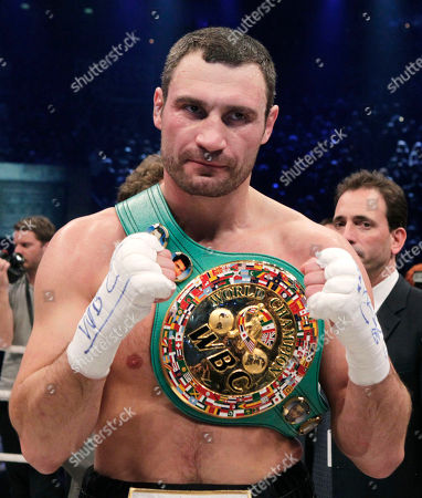 Vitali Klitschko World boxing champion Vitali Klitschko of the Ukraine reacts after defeating challenger Odlanier Solis of Cuba in the WBC heavyweight title bout to retain his championship in Cologne, Germany
