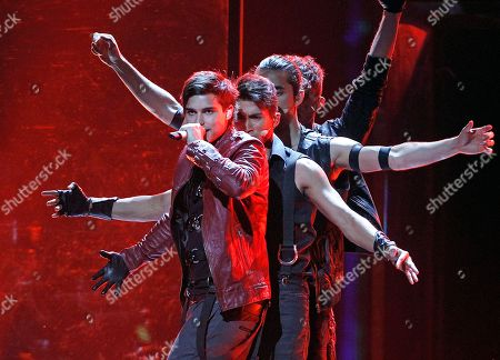 Eric Saade Eric Saade of Sweden performs the song 'Popular' during the rehearsal for the second semifinal of the Eurovision Song Contest (ESC) in Duesseldorf, Germany, . The final of the ESC will be held on Saturday