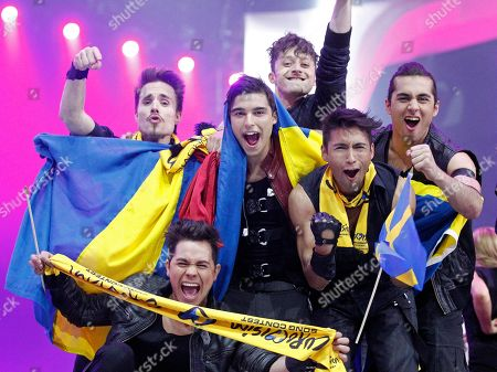 Eric Saade Eric Saade of Sweden celebrates after the second semifinal of the Eurovision Song Contest (ESC) in Duesseldorf, Germany, . The final of the ESC will be held on Saturday