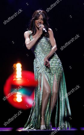Dana International Dana International of Israel performs the song 'Ding Dong' during the second semifinal of the Eurovision Song Contest (ESC) in Duesseldorf, Germany, . The final of the ESC will be held on Saturday