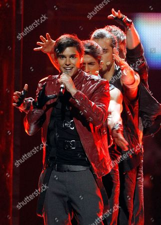 Eric Saade Eric Saade of Sweden performs the song 'Popular' during the second semifinal of the Eurovision Song Contest (ESC) in Duesseldorf, Germany, . The final of the ESC will be held on Saturday