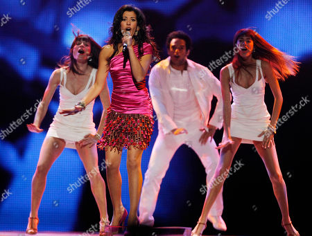 Lucia Perez Lucia Perez of Spain performs the song 'Que Me Quiten Lo Bailao - They Can't Take The Fun Away From Me' during the final rehearsal of the Eurovision Song Contest, ESC, in Duesseldorf, Germany, . The final of the ESC will be held on Saturday