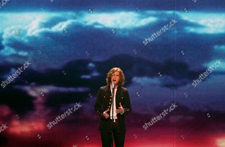 Amaury Vassili Amaury Vassili of France performs the song 'Sognu' during the final rehearsal of the Eurovision Song Contest, ESC, in Duesseldorf, Germany, . The final of the ESC will be held on Saturday