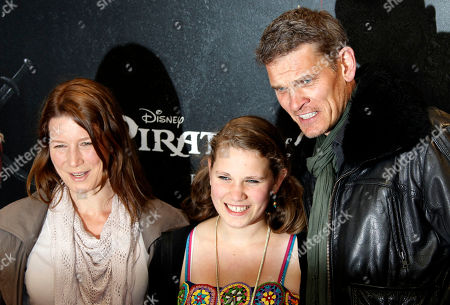 Goetz Otto, Sabine Otto, Paula Otto German actor Goetz Otto, right, his wife Sabine Otto, left, and his daughter Paula Otto pose during a photocall on the red carpet for the German premiere of Pirates of the Caribbean: On Stranger Tides, southern Germany, on