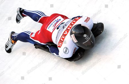 Kristian Bromley Great Britain's Kristian Bromley competes in the second run of the men's Skeleton World Championships race in Koenigssee, southern Germany, on