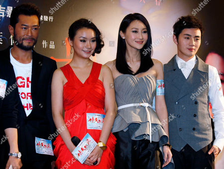 Louis Koo, Wangdan Yili, Lin Peng, Yu Shaoqun From left Hong Kong actor Louis Koo, Chinese actresses Wangdan Yili, Lin Peng and actor Yu Shaoqun attend the movie premiere of their latest movie 'A Chinese Ghost Story' in Hong Kong