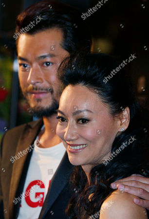 Louis Koo, Kara Hui Hong Kong actor Louis Koo, left and actress Kara Hui attend the movie premiere of their latest movie 'A Chinese Ghost Story' in Hong Kong