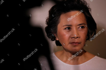 """Deannie Yip Hong Kong actress Deannie Yip reacts as she speaks to reporters during a film shoot with his new movie """"To Tse"""" in Hong Kong . Hong Kong has produced Chinese cinema's biggest names, but for the former British colony's actors and directors, the future now lies in the thriving mainland market"""