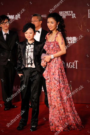 Fiona Sit, Brabra Wong Hong Kong actress Fiona Sit, right, poses with director Brabra Wong on the red carpet of the 30th Hong Kong Film Awards in Hong Kong