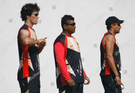 Karl Whatham, Balaji Rao, Amabhir Hansra Canada's cricketers Karl Whatham, left, Balaji Rao, center, and Amabhir Hansra prepare to bowl in the nets during a training session in Nagpur, India, . Canada will play Zimbabwe in Cricket World Cup Group A match on Feb. 28
