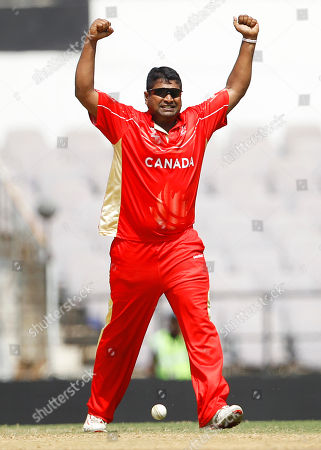 Balaji Rao Canada's cricketer Balaji Rao celebrates the dismissal of Zimbabwe's Sean Williams, not seen, during their Cricket World Cup Group A match in Nagpur, India