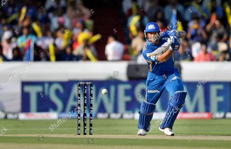 Andrew Symonds Mumbai Indians batsman Andrew Symonds plays a shot during an Indian Premier League (IPL) cricket match against Deccan Charges in Hyderabad, India