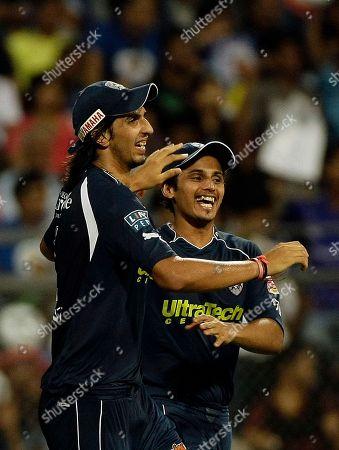 Ishant Sharma Deccan Chargers' Ishant Sharma, left, celebrates with teammate Bharat Chipli after the dismissal of Mumbai indians' Andrew Symonds during the Indian Premier League (IPL) cricket match in Mumbai, India