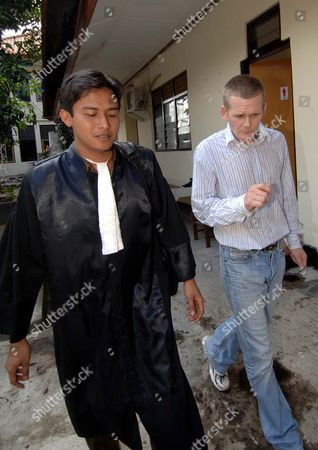 Ronnie Ramsay with his lawyer