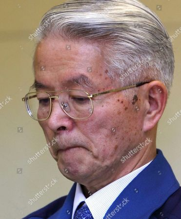 Tsunehisa Katsumata Then Tokyo Electric Power Co., (TEPCO) Chairman Tsunehisa Katsumata reacts during a news conference at the company's headquarters in Tokyo. A Japanese judicial panel has recommended that three former executives of the utility that operates the damaged Fukushima nuclear plant face criminal charges over their role in the disaster. A document released by the panel on showed it voted in favor of indicting Tsunehisa Katsumata, chairman of Tokyo Electric Power Co. at the time of the crisis, along with two Vice Presidents Sakae Muto and Ichiro Takekuro