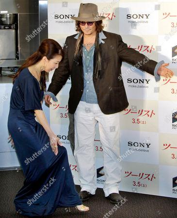 Editorial image of Japan People Depp Jolie, Tokyo, Japan