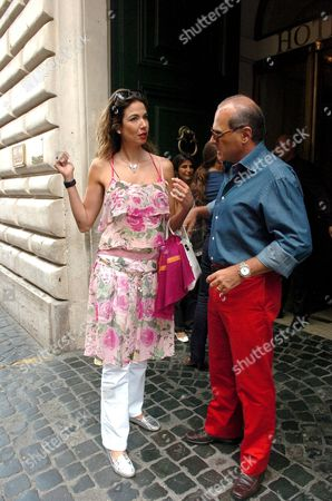 Luciana Morad and Marcelo Carvalho at the Hotel de Russie